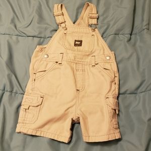 Boys overall khaki shorts